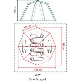 Coleman Cortes Octagon 8 Tiendas de campaña